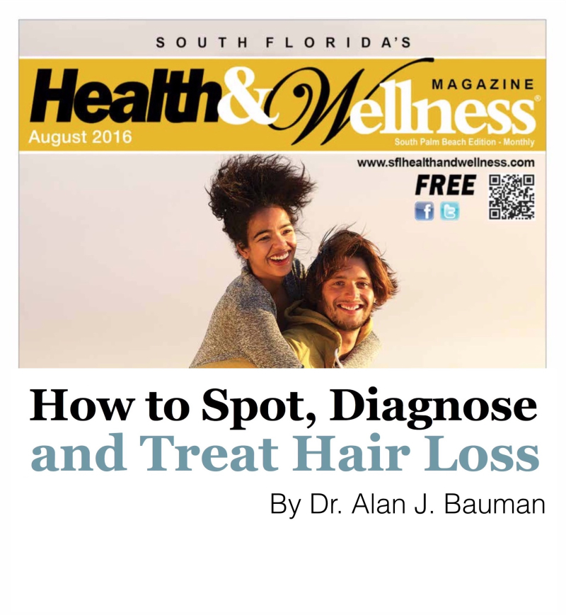 How to Spot Hair Loss_DrAlanBaumanSFHW0816_cover