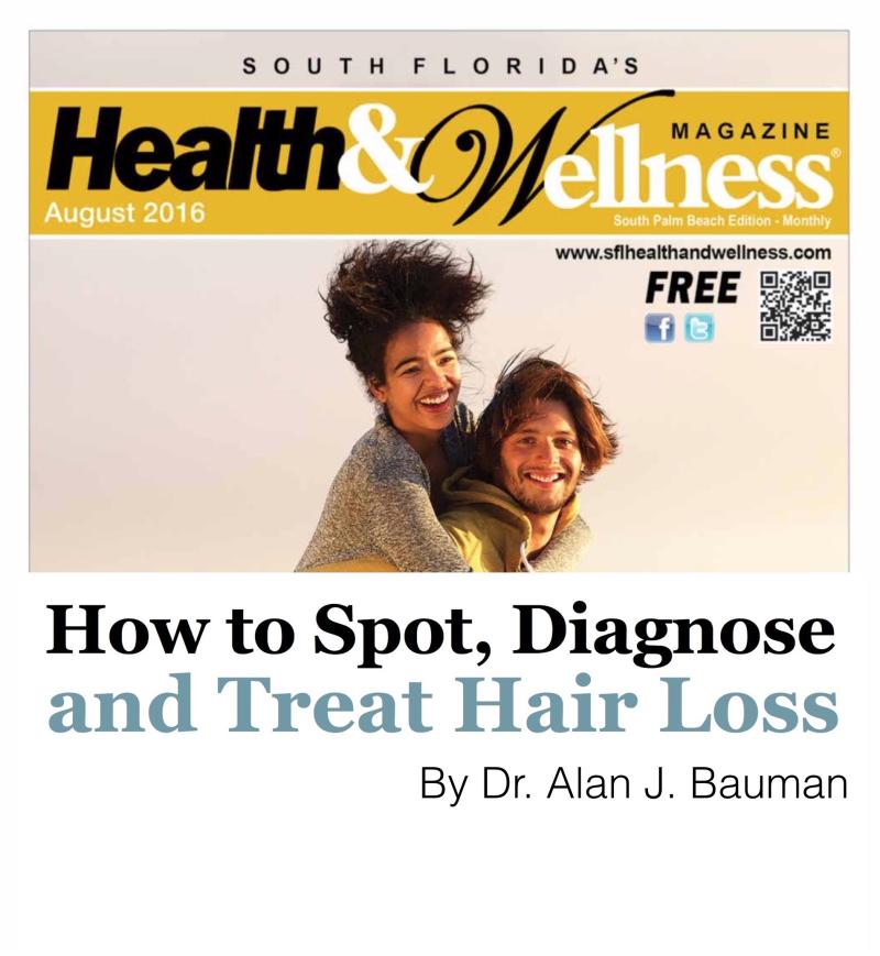 How to Spot Hair Loss_DrAlanBaumanSFHW0816_cover