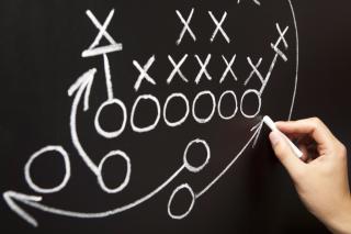 Coach plan chalkboard