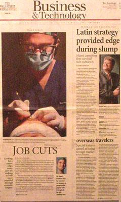DrAlanBauman-SunSentinelNewspaper-Feature-JobCuts-hairtransplant-March-2004